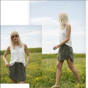 Anthropologie Boardwalk Skirt Grey Small Miniskirt